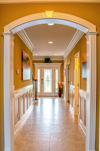archway trim and wall chair rail
