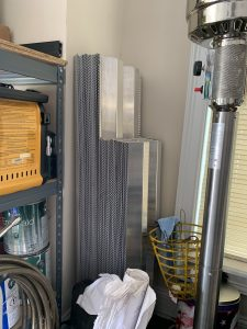 Shutters stack nicely for storage