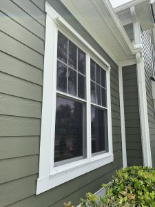 View of a window, ready for shutters