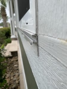 Shutters slide easily into the braces